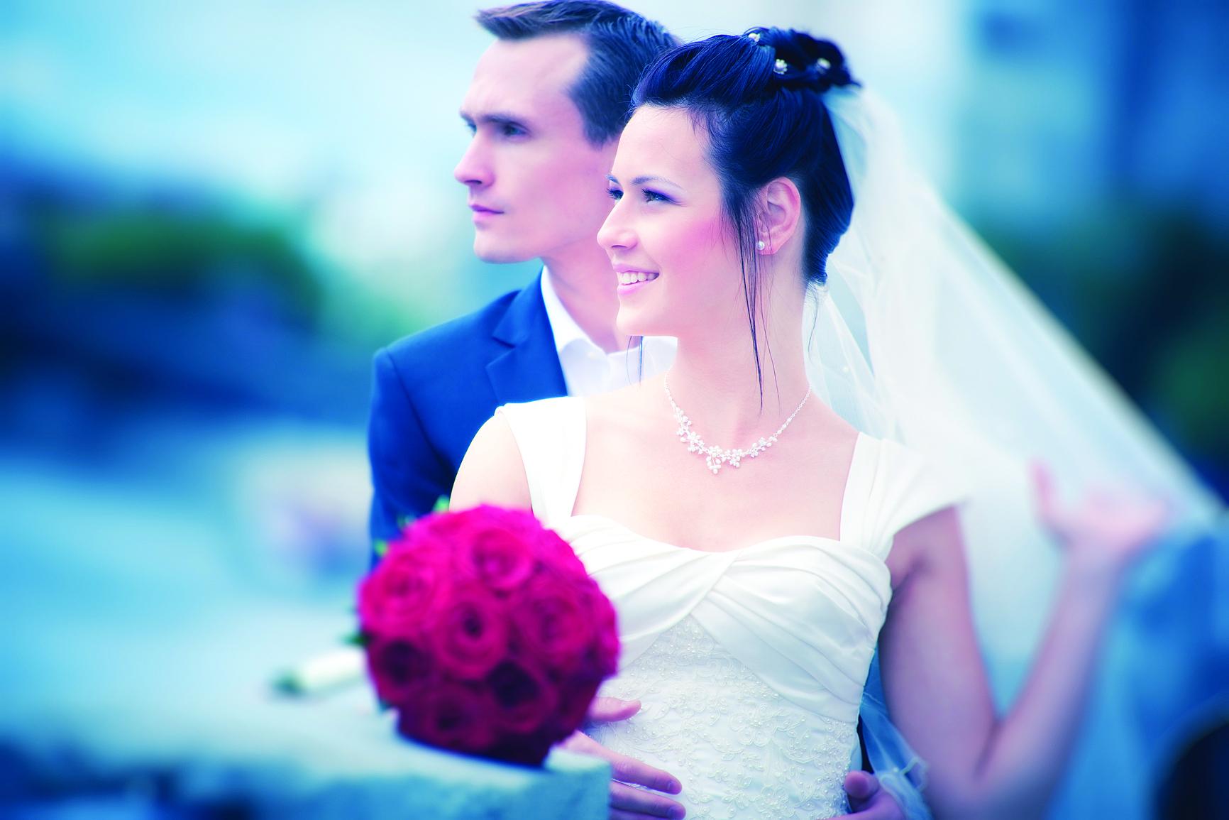 Красивые фото молодых на свадьбе